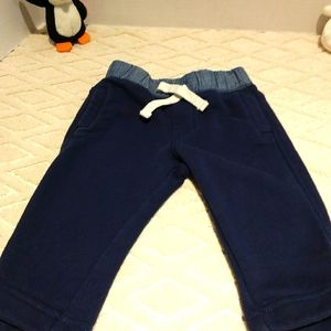 Baby Gap joggers with denim colour waist band